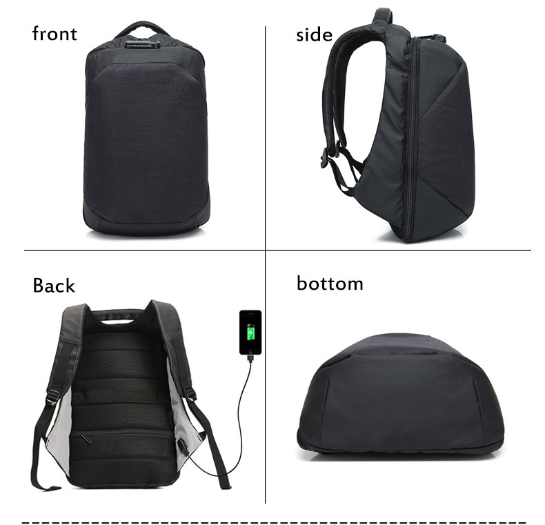 New 15.6Inch Laptop Backpack Men Travel School Bag For Teenage Usb Charge Casual Waterproof Anti-Theft Backpack Male Rucksacks