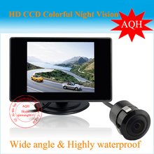 "Hot Selling  Car Rear View Back up Camera + 4.3"" Mirror monitor+parking assistance  Rearview kits Free shipping"