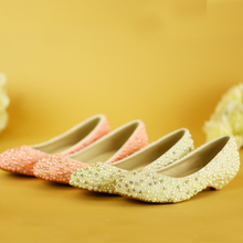 Wedding Ceremony Wedge Heel Bridal Dress Shoes Wedding Anniversary Party Shoes Mother of the Bride Shoes Pink and Ivory Pearl