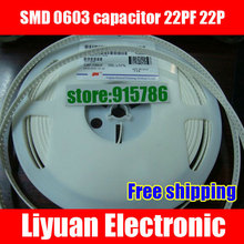 Free shipping SMD 0603 capacitor / ceramic Capacitor / MLCC 22PF 22P accuracy of 5%