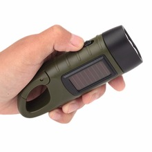 2017 New Hand Crank Solar Flashlight Rechargeable LED Portable Emergency Flashlight Torch Night lantern For Outdoor Camping(China)