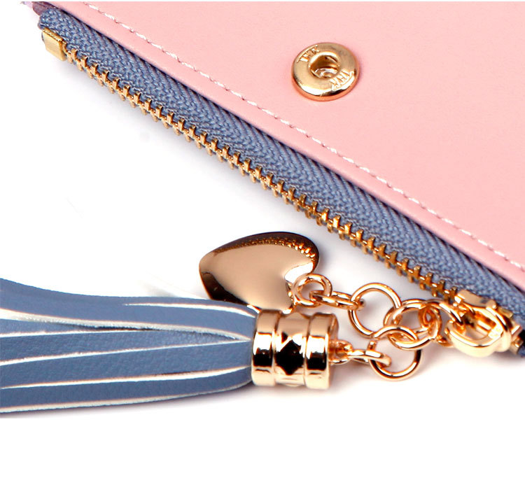 2018 Fashion Ladies Wallet Female Short Zipper Coin Purse Small Wallets Young Womens Tassel Hasp Purses Button Card Holder Pouch 83