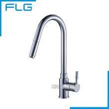 FLG Kitchen Faucet Pull Out Mixer Tap, Best Selling Parts Single Handle Crown Kitchen Faucet(China)