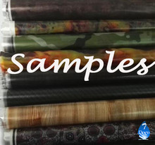 0.5M Width Sample Water Transfer Printing Film, Hydrographic Dipping Film, Carbon Fiber/ Skull/ Camo/ Wood/ Graffiti Pattern
