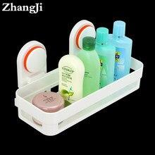 Zhangji ABS de alta calidad estante de baño montado en la pared accesorios  de baño esquina ventosa cesta Prateleira estante duch. c94b259a4b30