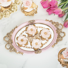 European round tray decoration for cupcake jewelry tray cupcake plate perfume holder wedding party supplier for cake(China)