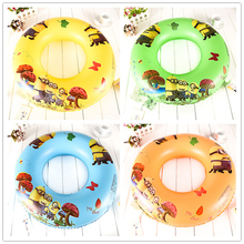 New 2016 1PC Kid Swimming Float Swimming Rings Cartoon Yellow Men Stuart Kevin Jorge Waist Circle Swimming Rings4 Color(China)