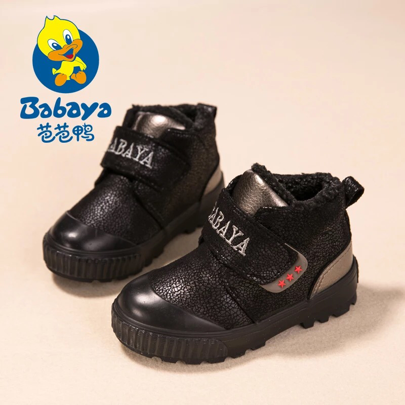 2016 brand warm thicken waterproof PU leather infant boys sport fashion sneakers children winter snow shoes kids boy black boots<br>