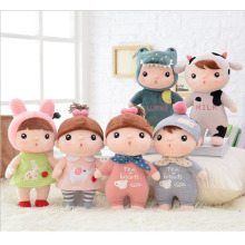 Metoo Sugar Bean girl Stuffed Soft Animals Angela Plush Toys Sleeping Dolls kids Child Birthday cute lovely Gifts Free Shipping(China)