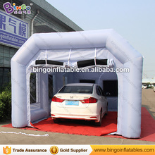 26*13feet Portable inflatable spray paint booth with filter, grey inflatable spray booth customize available toy tent