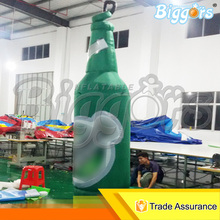 Professional Manufacturer Activities Promotion Outdoor Giant Air Inflated Bottle Inflatable Beer Bottle Shape With Blowers(China)