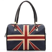 New Fashion Women's British Style Union Jack UK Flag Leather Handbag Shoulder Big Bagfor women Vintage Messenger Bag QT2030