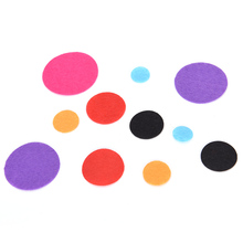 10/15/20/25/30/40/45/50mm Round Felt Fabric Pads Accessory Patches Circle Felt Pads Fabric Flower Accessories 100PCS