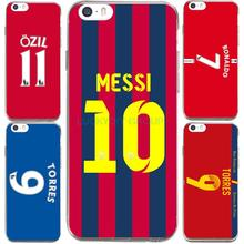For Football Club Torres Ronaldo Messi Jersey For IPhone7 7Plus 4 5S SE 6 6S Case Transparent Silicone soft slim Tpu Phone Cover