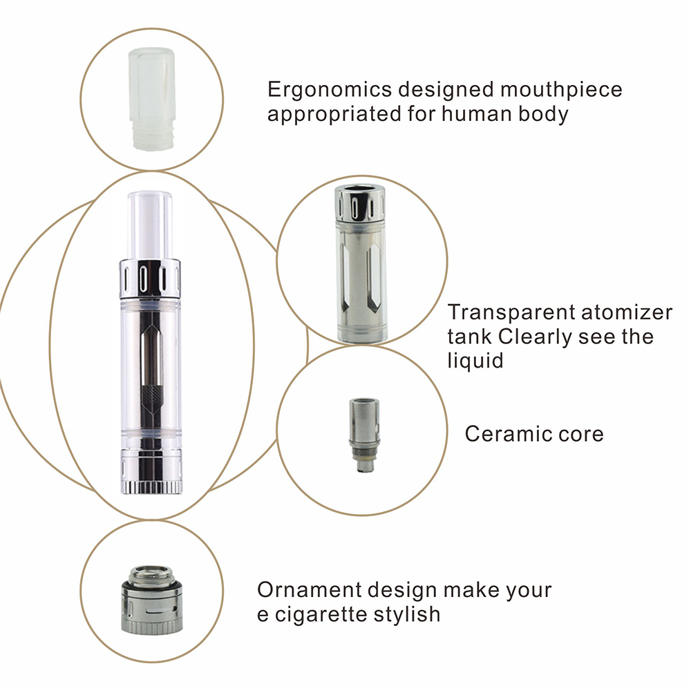 Original Electronic cigarette C14 starter kits 1.5 ohm Ceramic Coil  900mah Battery airflow control vaporizer pen E cigarettes