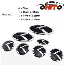 7pcs / lot car Wheel Centre Cap Trunk Emblem 3D sticker Boot Logo Steering Wheel Label Hood Cover front(China)