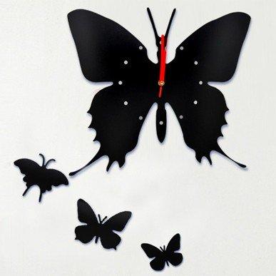 Wall Clock Home Decorate & Accents DIY Adhesive  DIY clock Black Free shipping
