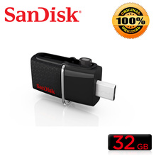 SanDisk Ultra Dual OTG USB 3.0 pen Drive SDDD2 130M/S 16gb 32gb 64gb 128gb usb flash drive for Android phone/PC(China)