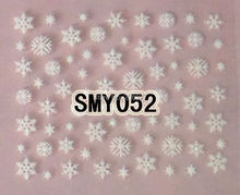 2PCS SMY052 White Snowflake Nail Art Cute Cartoon Sticker Nail Art Sticker