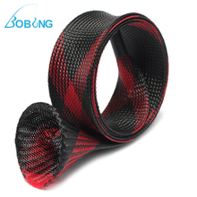Bobing 1.6m Braided Sleeve Expandable Casting Fishing Rod Pole Cover Protector Fishing Tackle Tool Accessory(China)