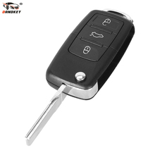 DANDKEY Car Folding Remote Key Shell Case Replacement 3 Button for Volkswagen VW Passat Tiguan Polo Golf Key(China)