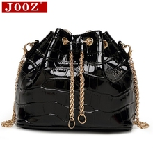 JOOZ Mini Crocodile pattern Bucket Bag Women High Quality Patent Leather Shoulder Bag Brand Desinger Ladies Crossbody Bags(China)