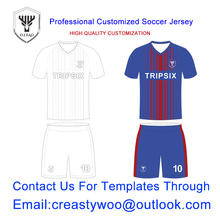 Full sublimation custom soccer jersey china europe customized embroided adult football jerseys printing colorful pattern online(China)