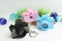 FREE SHIPPING BY DHL 200pcs/lot Plastic LED New 3D Digital Camera Shaped Keychains with Sound Novelty Toy Keyrings for Kids
