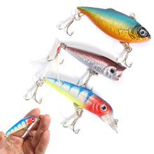 3PCS Bright Colors Life-like Plastic Steel Metal Fish Lure Hook Set Smooth And Rapid Diving Action Hight Quality(China)