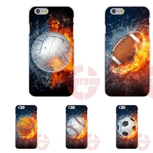 Baseball Football Volleyball In Water And Fire For iPhone 4S 5S SE 6S 7S Plus For Galaxy A3 A5 J3 J5 J7 S4 S5 S6 S7 2016