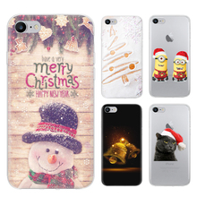 Merry Christmas Phone Case For iPhone 5 5s SE 6 6s 6 Plus 6s Plus 7 7 Plus 8 8 Plus X Santa Lovely Style Painted TPU Soft Case