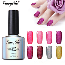 FairyGlo 10ML Neon Nail Gel Bling Glitter Soak Off LED Lamp Gel Polish Paint Gellak Hybrid Varnish Semi Permanent Lucky Lacquer(China)