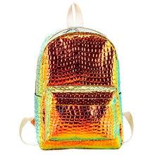 c17d17449585 Голограмма геометрический раза студент школьные ранцы модные женские туфли  Лазерная школа Holog рюкзак камень узор девушка дорож.