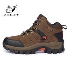 Brand Men's Hiking Shoes Anti-Skid Mountain Climbing Boots Outdoor Athletic Breathable Men Trekking Shoes Waterproof Women Boots(China)