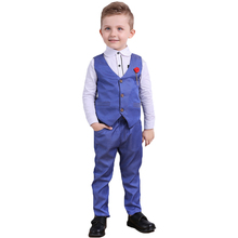 2016 new style Fashion baby boy clothes gentleman 3pieces/set party and wedding Long Sleeve Kids Boy Clothing Sets
