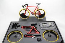 Fixed Gear Bike model DIY Assembled Bicycle model Damping Mountain Bike with base educational toys gift home decoration
