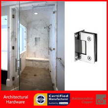 90 Degree Shower Door Hinges 304 Stainless Steel Spring Hinge DC-1031 Wall to Glass Fitting Glass Clamp(China)