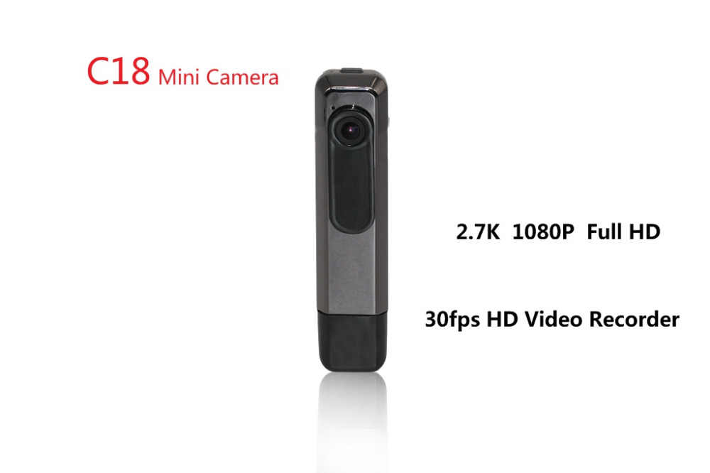 2018 New C18 Mini Camera H 264 2 7K Ultra HD 30fps Mini Dv 1080P 60fps  Camera Mini Camera DV Recorder Camcorder Video Recorder
