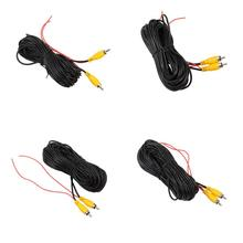 RCA Video Cable Car Reverse Rear View Parking Camera Video Cable with Detection Wire Audio Converter Cable 10/12/15/20M