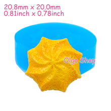 QYL045 20.8mm Whipped Cookie Flexible Silicone Mold - Dessert Sugarcraft Fondant, Biscuit, Baking Tools, Resin, Candy, Food Safe(China)