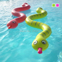 Children Inflatable Snake Pool Float 170cm Giant Green Kids Swimming Ring Serpent Noddle Floats Water Holiday Party Toys Piscina