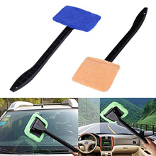 Vehemo Car Care Microfiber Long Handle Washer Brush Car Window Windshield Wiper Auto Cleaner with Towel(China)