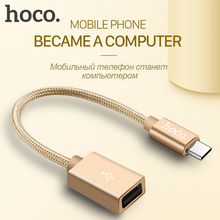 HOCO USB Type-C Adapter OTG Cable Charger Data Sync Type C Female Cord New Macbook Xiaomi Huawei Samsung - official store