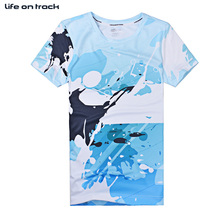 Basketball Blue Best Selling Men's Running Jersey Ball Sports Wear Tops Short Sleeves Printing Quick Dry Breathable T-shirts