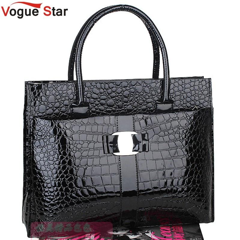Vogue Star Women Handbag Luxury OL Lady Crocodile Tote Shoulder Bag for women Black &amp; Red color PU leather women bag YK40-705<br><br>Aliexpress
