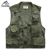 2017 Military Tactical Vest Men Outdoors Travels Vests Sport Mesh Photographer Vests Fishing Hunting Waistcoat with Many Pocket