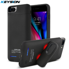KEYSION 3000/4200 mah Tragbare Lade Fall Für iphone 8 7 6 s Plus Batterie Power Bank Ladegerät Fall abdeckung für i8 7 6 8 p(China)