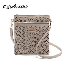 2017 Small Casual women messenger bags PU hollow out crossbody bags ladies shoulder purse and handbags bolsas feminina clutches(China)