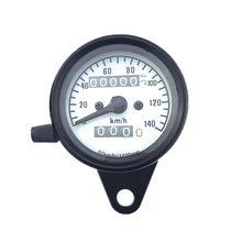 Black On White Background Universal Tachometer Motorcycle Meter LCD Digital Iron Plating Gauge Speedometer Odometer(China)