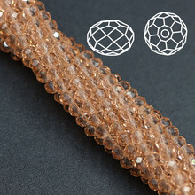 DIY Beads 6MM(100PCS/LOT)Crystal Rondelle Beads Joyas y Accesorios Fashion Crystal Plating Glass Beads Chinese Crystal Wholesale